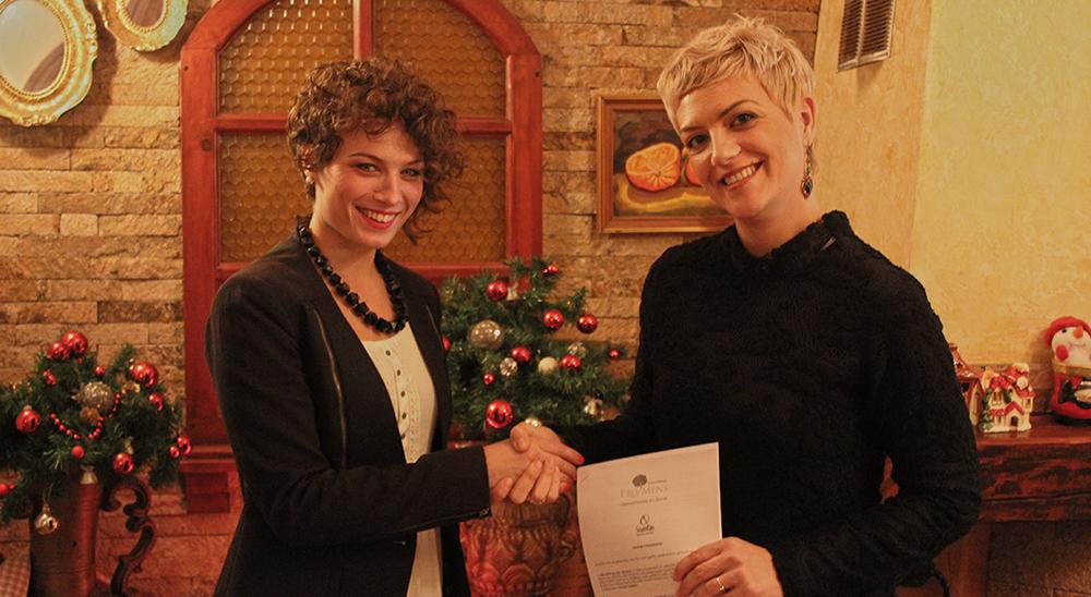 Sandra Nikolić  i Dušica Milosavljević, izvršni direktor ProMens centra