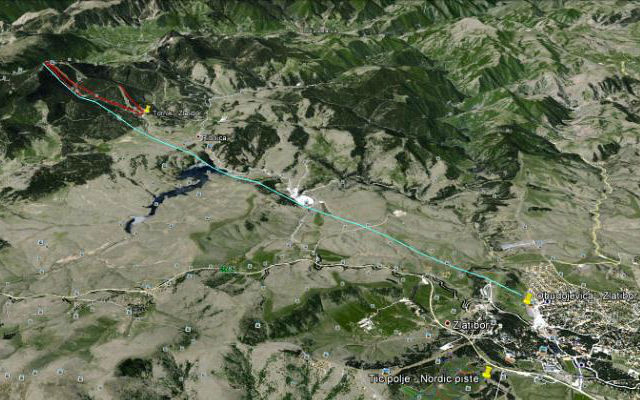 Gondola-zlatibor mapa
