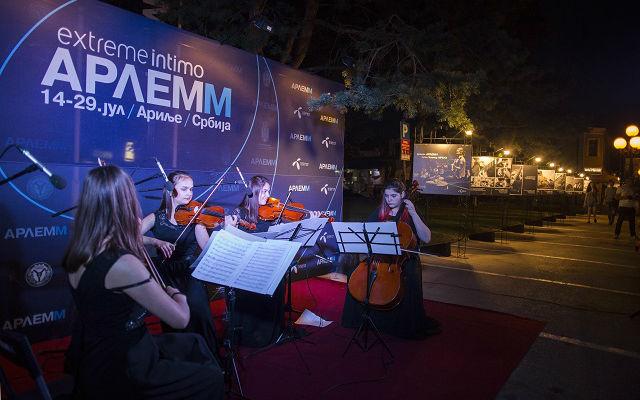 ARLEM 2018 Gudacki kvartet Skole za talente iz Cuprije na otvaranju Arlemma