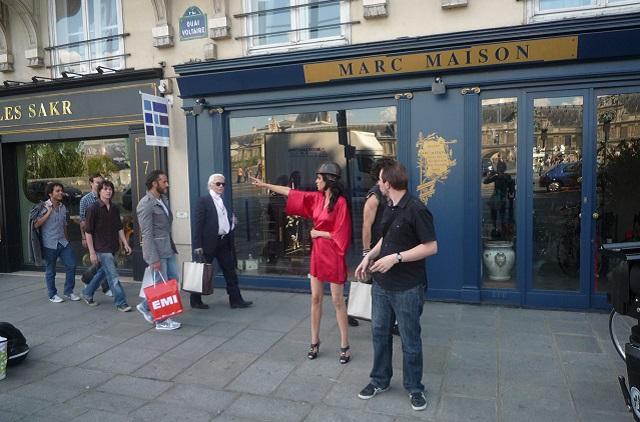 Snimanje sa Karlom Lagerfeldom